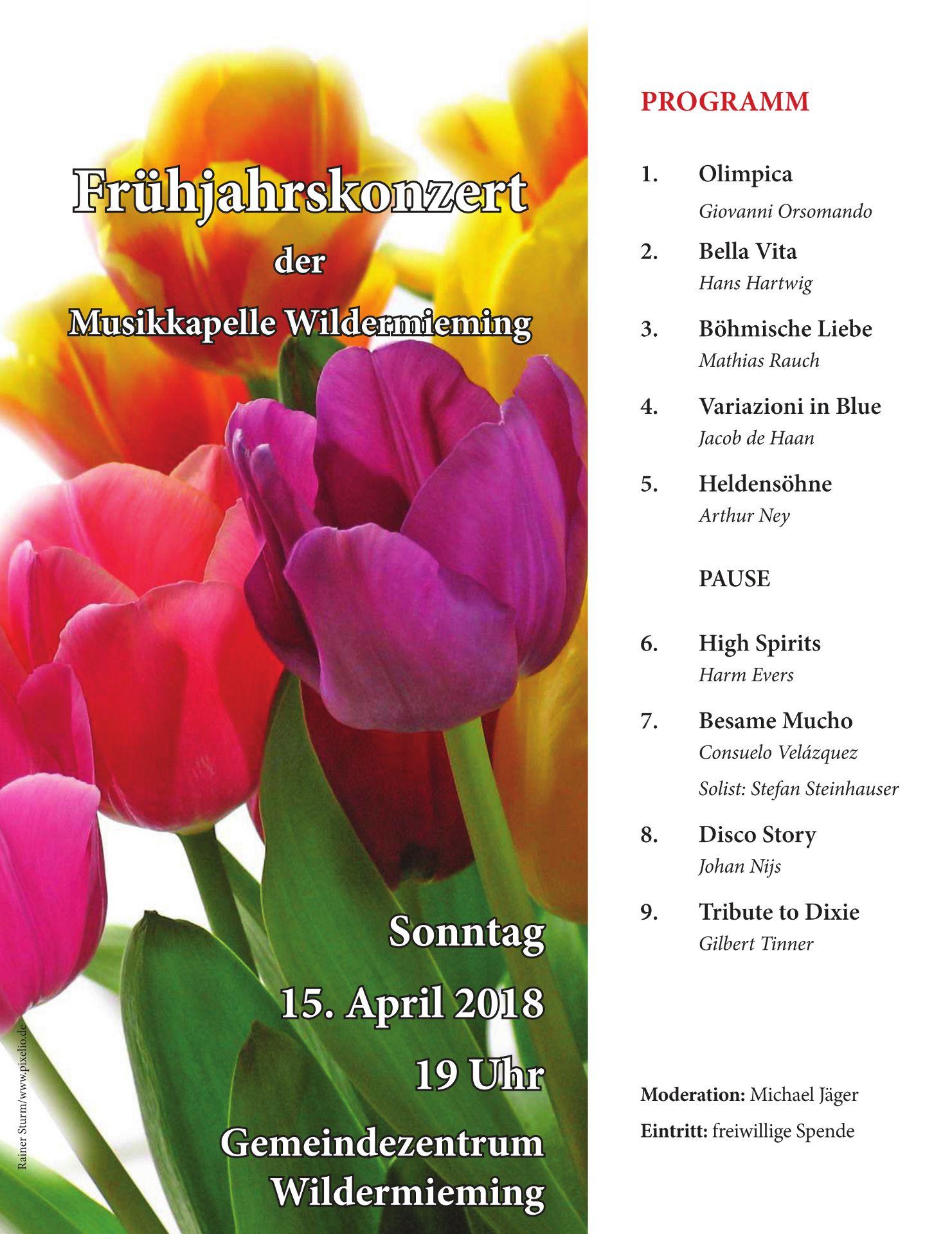 Programm Frühjahrskonzert 2018